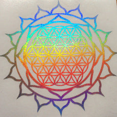 Sri Yantra in rainbow light