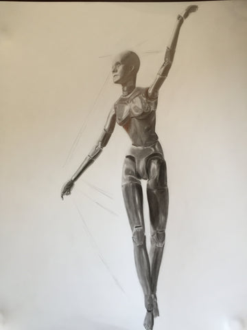 Figure Study in pencil by Natalie Lee, The Visionary ART Workshop Singapore