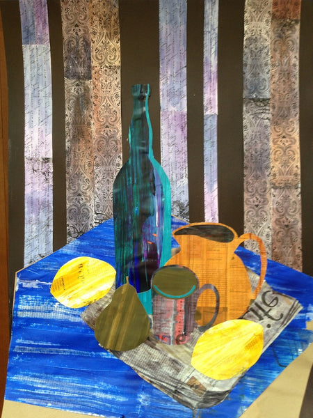 Collage inspired by Juan Gris' painting by Carla Tucker