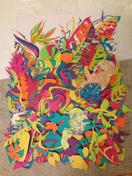 Paper Relief Collage by Kasey Edmonds