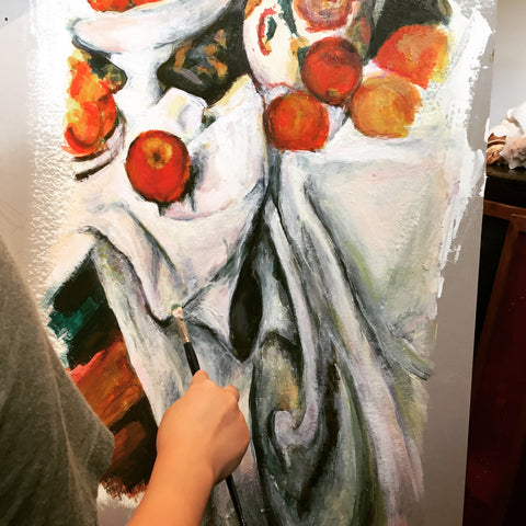 Acrylic study Cezanne by Julia Kong, The Visionary ART Workshop