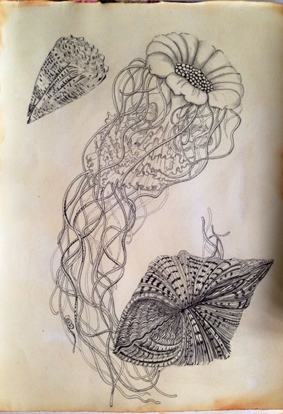 Art student Mabel Yap's pen studies at Visionary ART Workshop Singapore