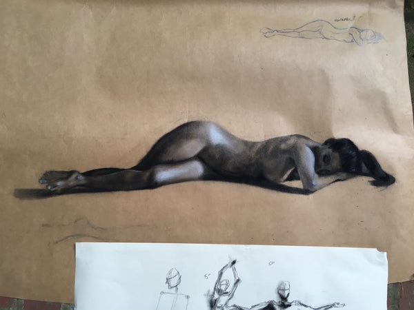 Figure in Charcoal by Natalie Lee The Visionary ART Workshop Singapore