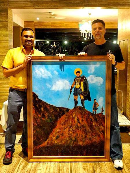 Reetesh gift to boss, art class The Visionary ART Workshop Singapore