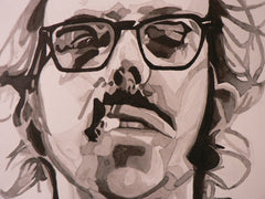 Ink of Chuck Close by talented & beautiful Melissa Than