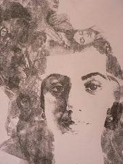 Monoprint based on self portrait by Archana Shah