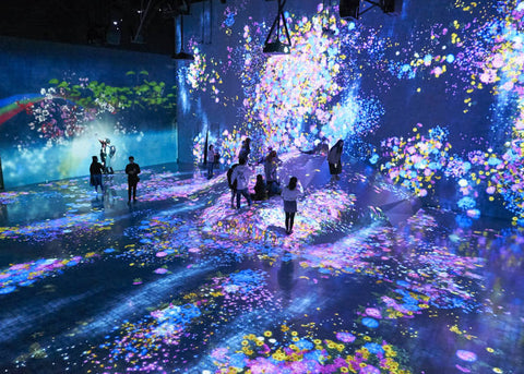 Teamlab uplifting art singapore