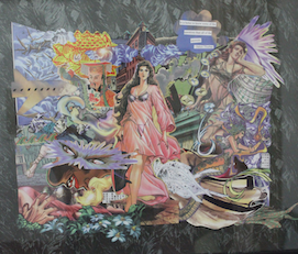 Collage of Power Self, Visionary ART Workshop by Kasey Edmonds