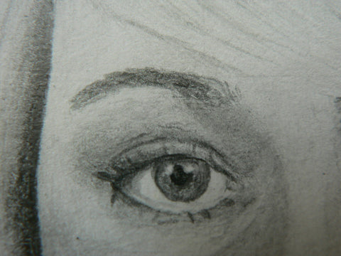 Eye in detail, pencil, The Visionary ART Workshop Singapore