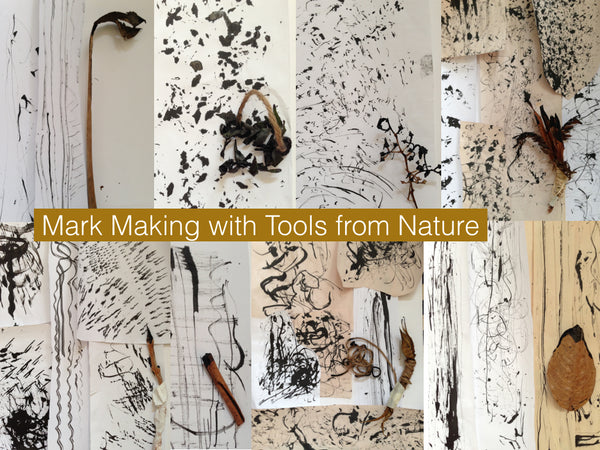 Mark making tools from nature