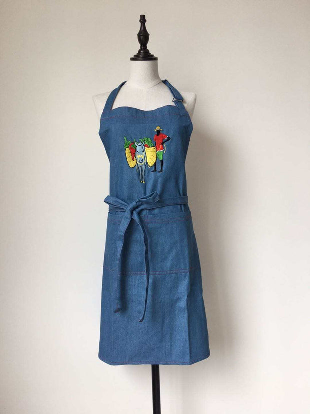 Unisex Embroidered Apron (talking ladies or donkey)