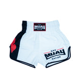 Nak Muay Nation Shorts (White 1)