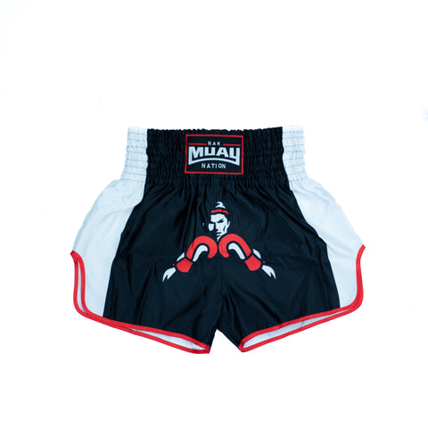 Nak Muay Nation Shorts (White 2)