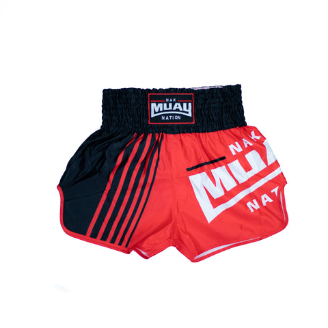 Nak Muay Nation Shorts (Red 2)