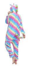 Adorable Rainbow Unicorn Onesie Women Back