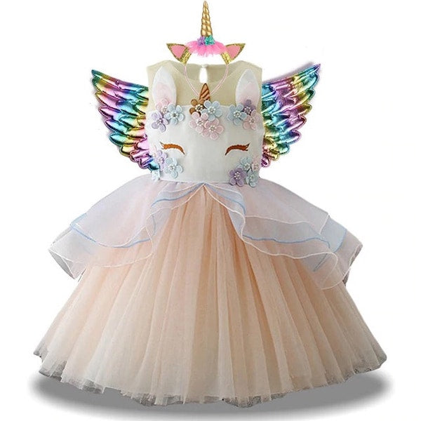 Beige Unicorn Dress up for Kids