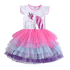 Colorful Princess Unicorn Dress Children