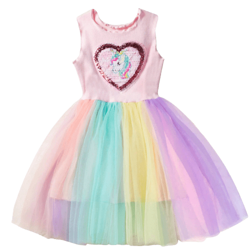 Colorful Unicorn Dress Heart Symbol