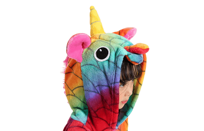 Colorful Unicorn Onesie for Girls Head