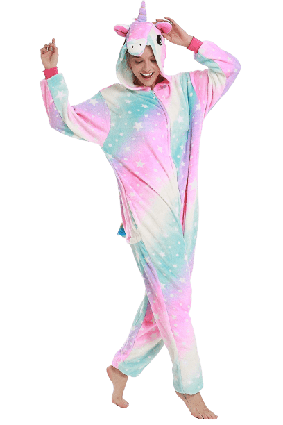 Cozy Rainbow Stars Unicorn Onesie