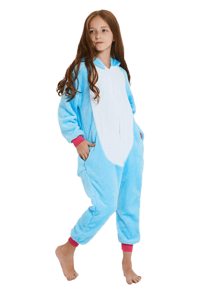 Cute Blue Unicorn Onesie for Kids