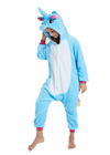 Cute Blue Unicorn Onesie for Kids Head