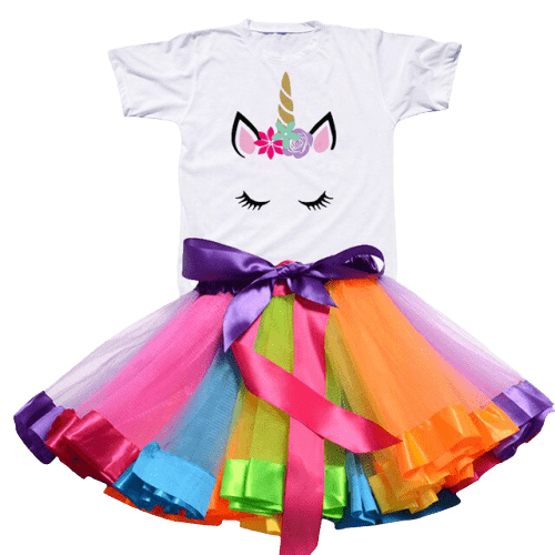 Cute Unicorn Tutu and T-shirt