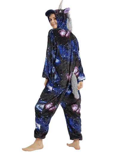 Dark Adult Unicorn Onesie Galaxy Back