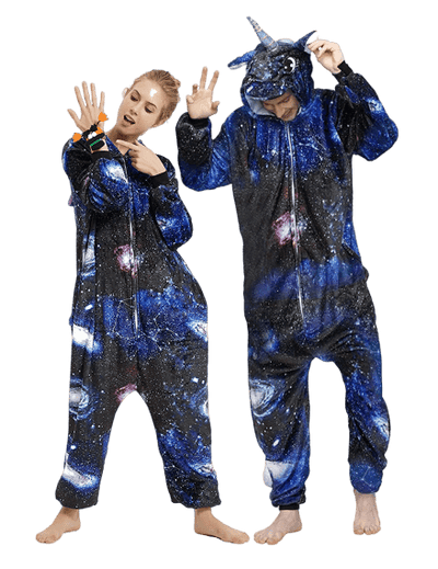Dark Adult Unicorn Onesie Galaxy Men Women