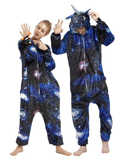 Dark Adult Unicorn Onesie Galaxy