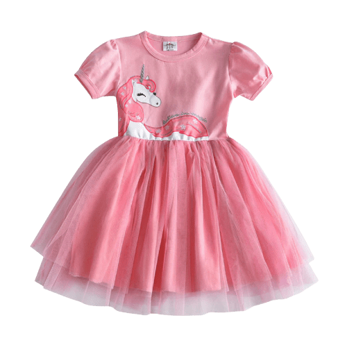 Fairy Pink Princess Unicorn Dress