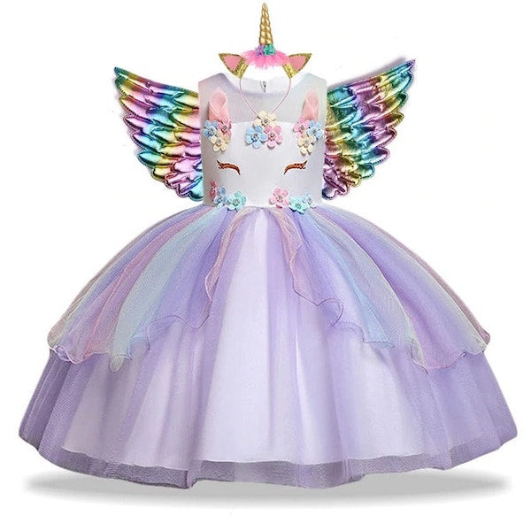 Fancy Unicorn Dress Birthday Party