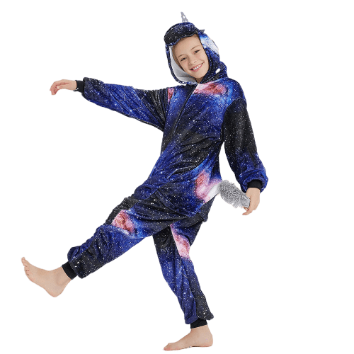 Kids Unicorn Onesie Galaxy for Halloween