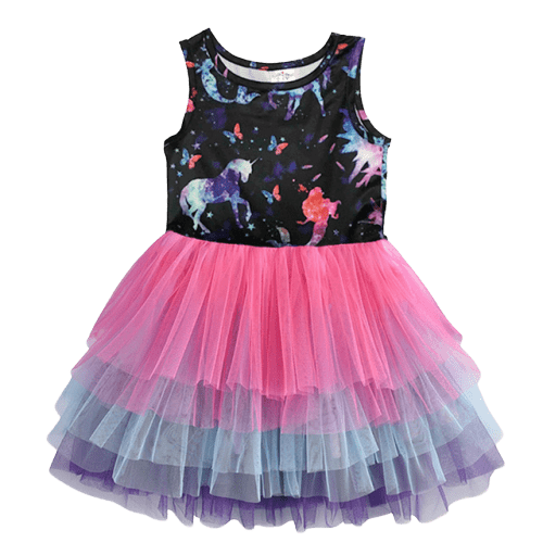 Magical Unicorn Dress Girl Children