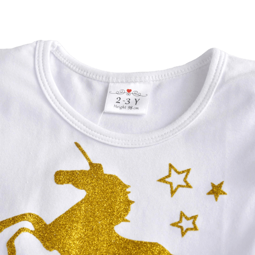 Pink and Gold Unicorn Dress