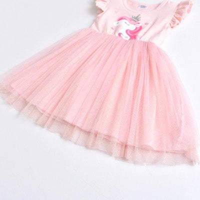 Pink Princess Unicorn Tutu Dress Kids