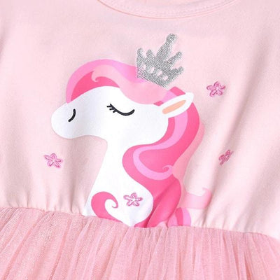 Pink Princess Unicorn Tutu Dress Girls