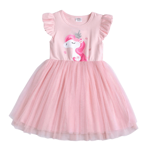Pink Princess Unicorn Tutu Dress