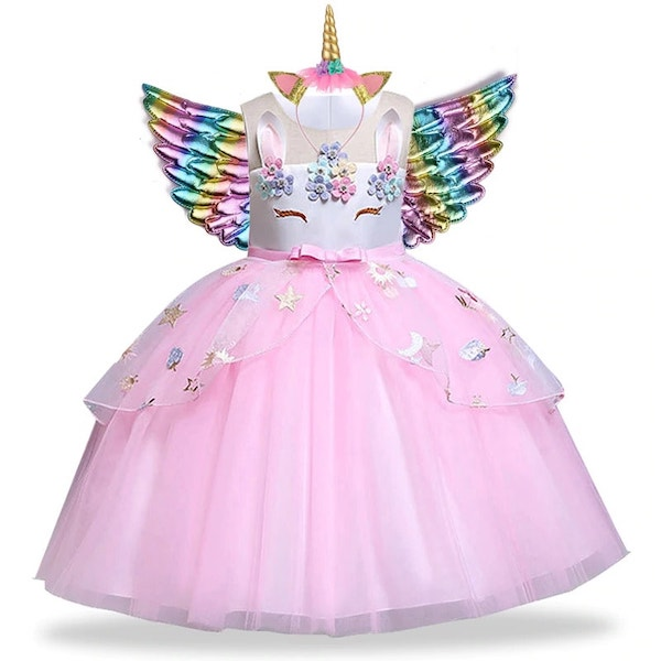 Pink Unicorn Dress for Birthday Party