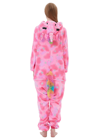 Pink Unicorn Onesie Costume for Women Back