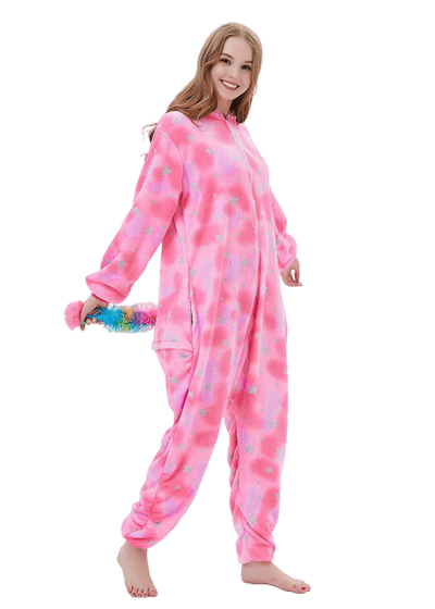 Pink Unicorn Onesie Costume for Women Dance