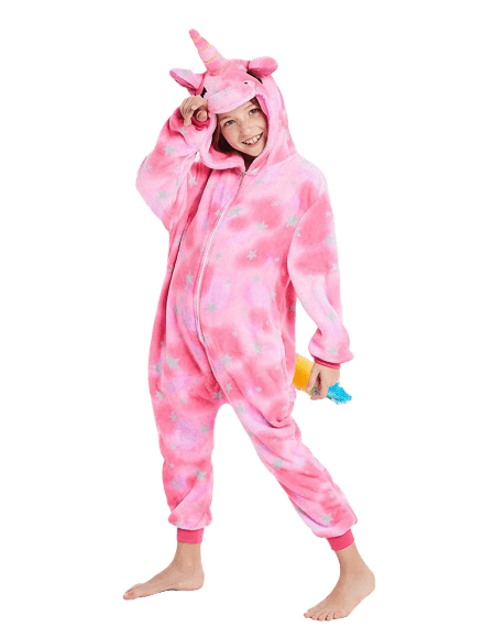 Pink Unicorn Onesie for Girls