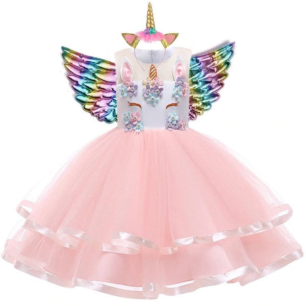 Princess Unicorn Dress for Girls Toddlers