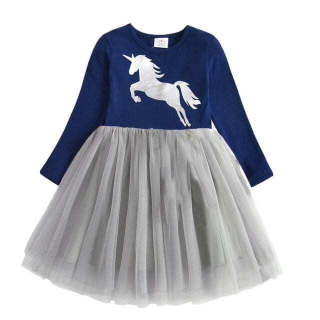 Fairy Silver Unicorn Dress Costume