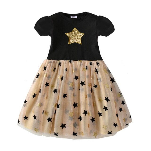 Unicorn Stars Dress Cotton