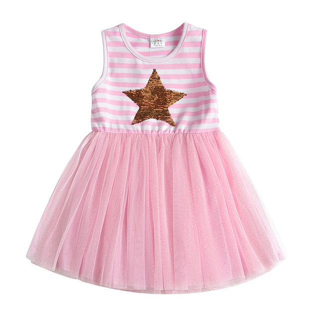 Pink Unicorn Dress Toddlers Kids