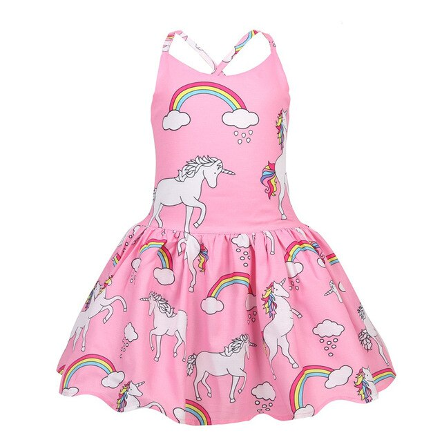 Pink Unicorn Dress Baby Girl