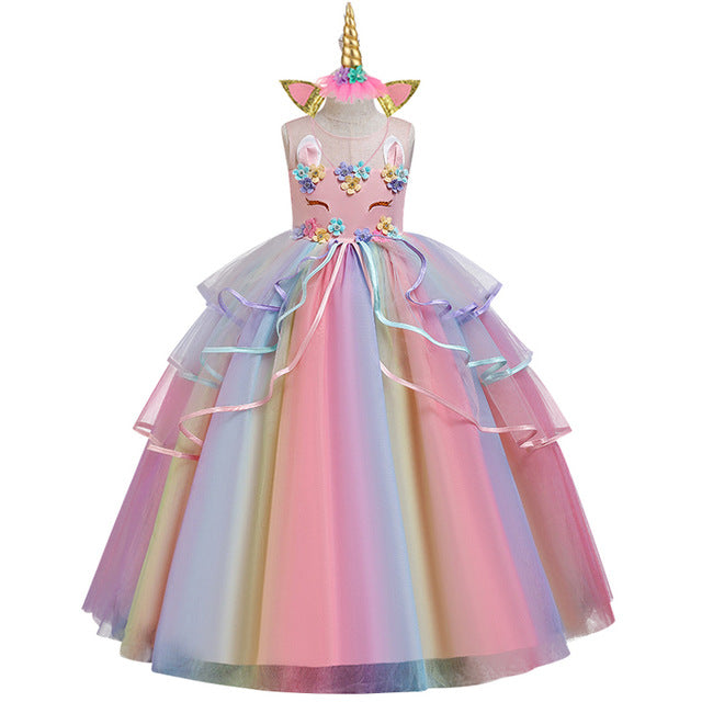 Wedding Unicorn Dress for Girls