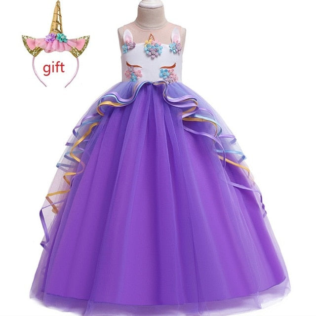 Long Unicorn Dress for Girls