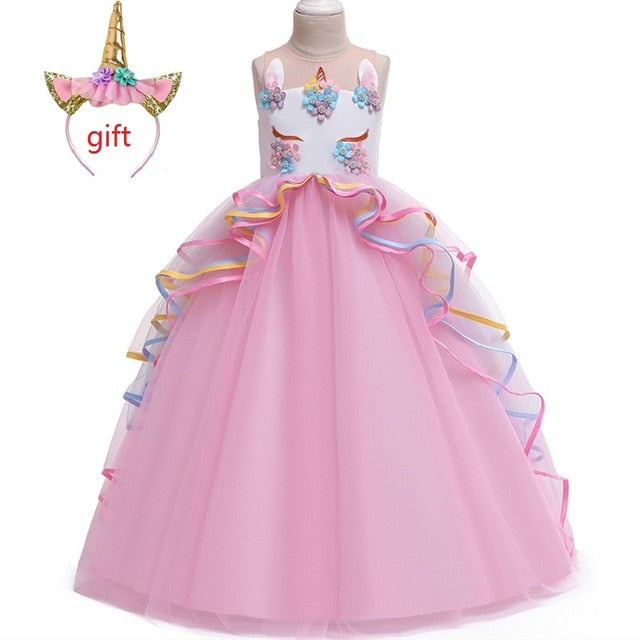 Long Unicorn Dress for Princess